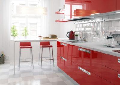 Meine rote Küche (panoramisch)